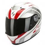 Integrální přilba na motorku Scorpion EXO-500 Focus bílo-červená výprodej