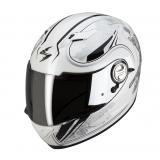 Integrálna prilba na moto Scorpion EXO-500 laces bielo-strieborná vypredaj