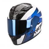 Integrálna prilba na moto Scorpion EXO-710 Knight bielo-modrá vypredaj