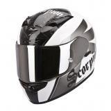 Integrálna prilba na moto Scorpion EXO-710 Knight bielo-strieborná vypredaj