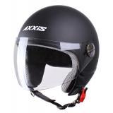 Moto prilba otvorená Axxis Zyclo čierna matná vypredaj
