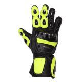 Rukavice na moto Tschul 285 čierno-fluo žlté vypredaj