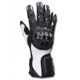 Rukavice na moto Tschul 314 čierno-biele vypredaj