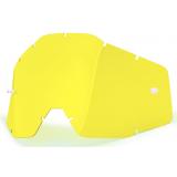 Žlté plexi pre motokrosové okuliare 100% Racecraft/Accuri/Strata